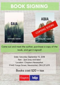 Gaia - Book signing at Chapters, Newmarket @ Chapters, Newmarket