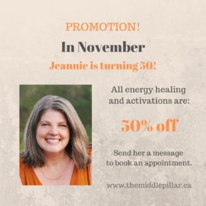 50% off all Healings for November @ The Middle Pillar
